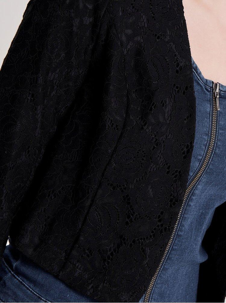Černé krajkové zkrácené sako ONLY Chris