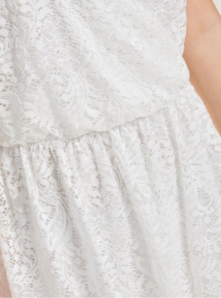 Rochie alba cu croi suprapus din dantela ONLY Sierra