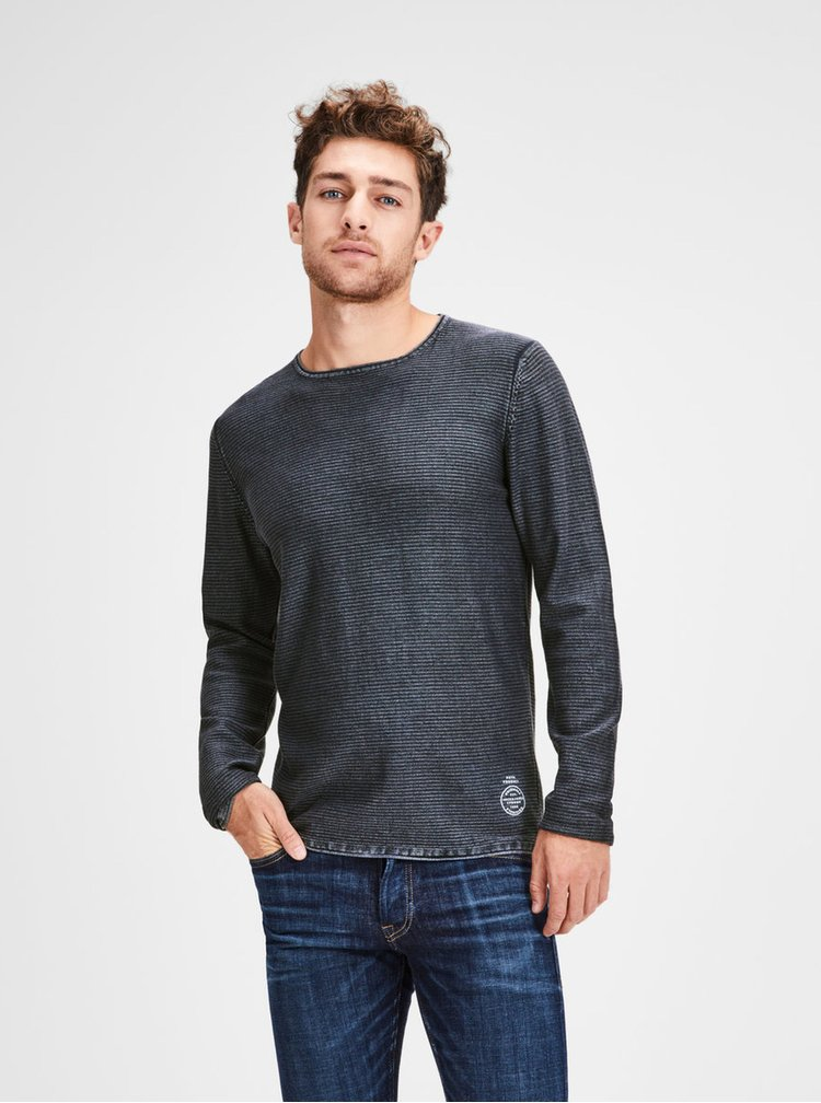 Pulover albastru lejer Jack & Jones Laundry