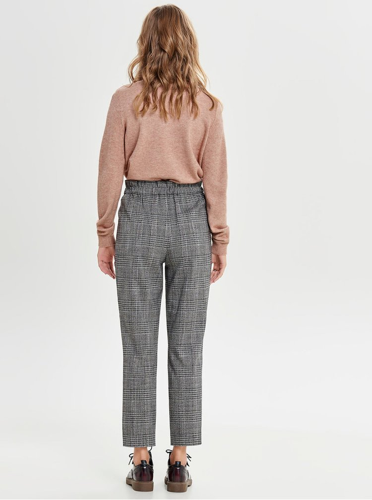 Pantaloni crop gri cu model ONLY Florence