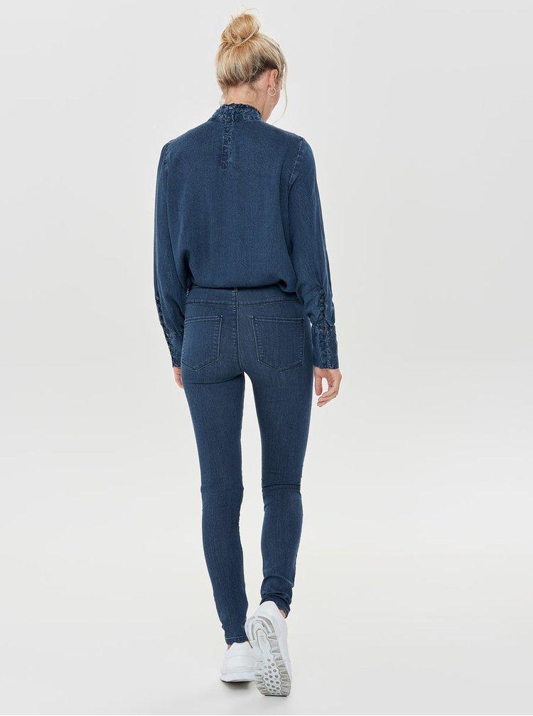 Modré skinny džíny ONLY Rain