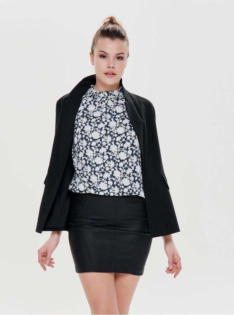Černé sako s nařasenými rukávy ONLY Zoey Diana