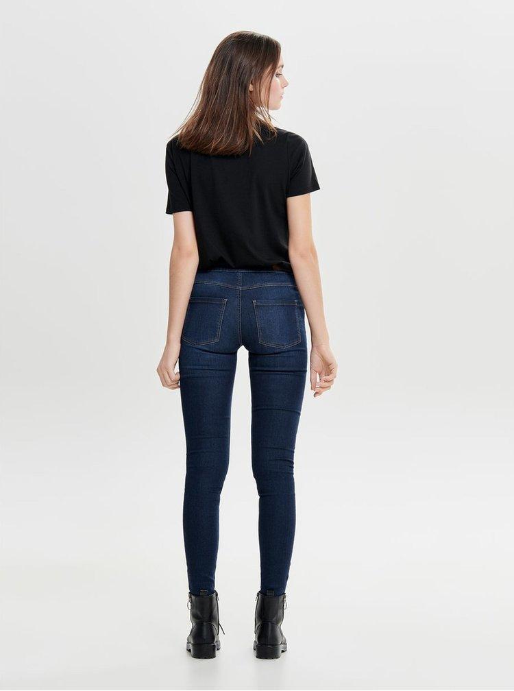 Čierne tričko s výšivkou ONLY Lux