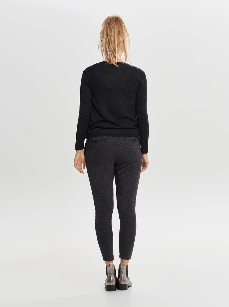 Cardigan negru cu fibre metalice ONLY Darling