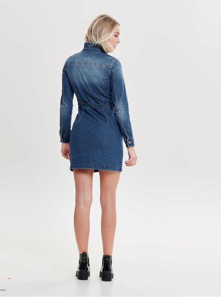 Rochie albastra din denim ONLY Belt