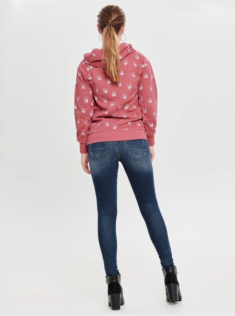 Hanorac roz cu model ONLY Jalene