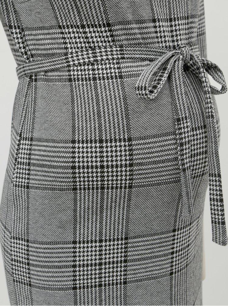 Šedé vzorované těhotenské šaty s 3/4 rukávem Mama.licious Nataly