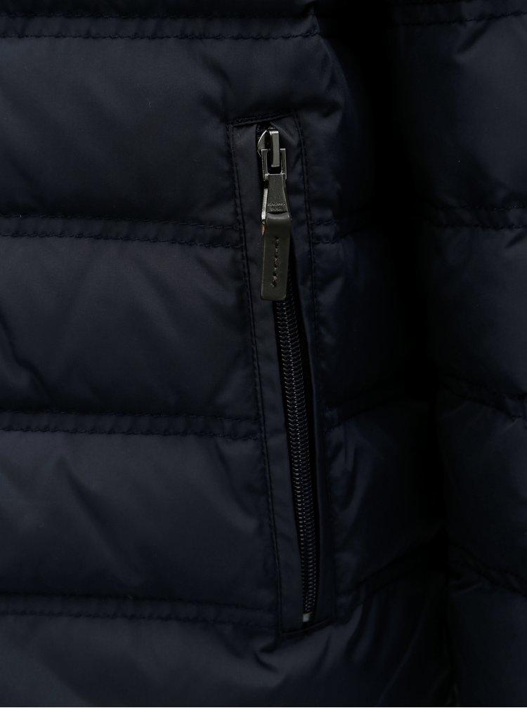 Jacheta barbateasca albastru inchis matlasata de iarna de puf Raging Bull