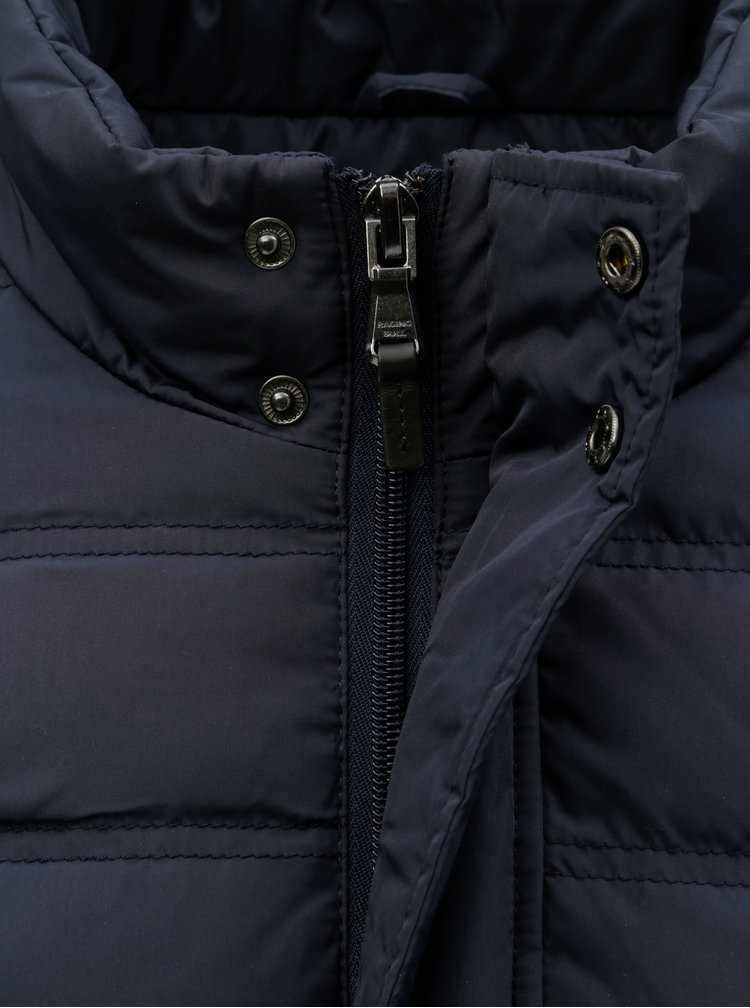 Tmavomodrá pánska prešívaná páperová zimná bunda Raging Bull