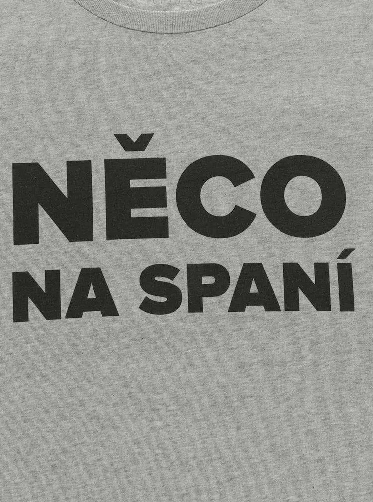 Šedé pánské tričko ZOOT Originál Něco na spaní