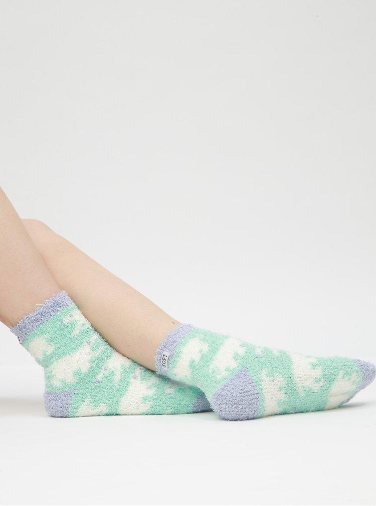 Sada tří párů ponožek v modré, černé a fialové barvě Bellinda Soft