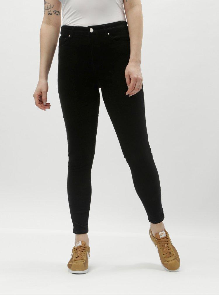 Čierne menčestrové skinny nohavice Miss Selfridge