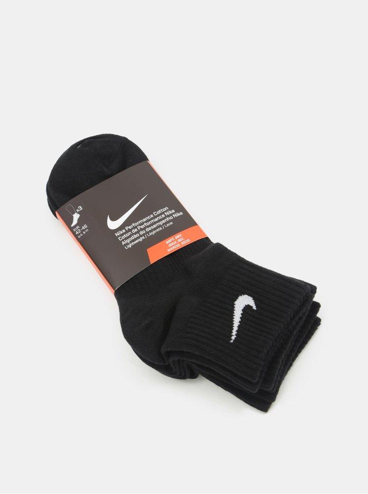Sada tří párů ponožek v černé barvě Nike