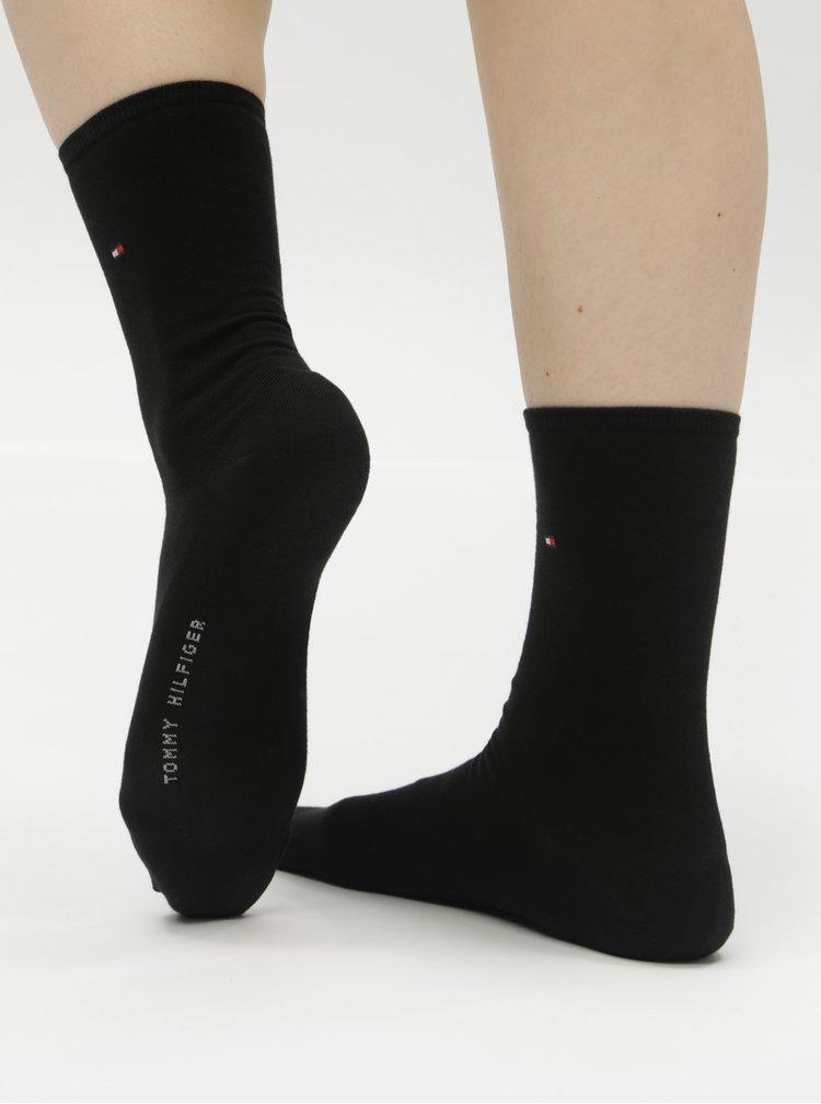 Súprava dvoch párov dámskych ponožiek v čiernej farbe Tommy Hilfiger