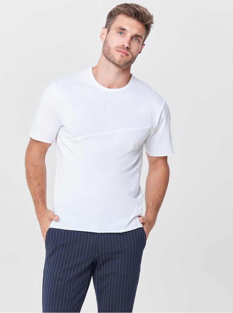 Bílé žíhané basic tričko ONLY & SONS Stewie