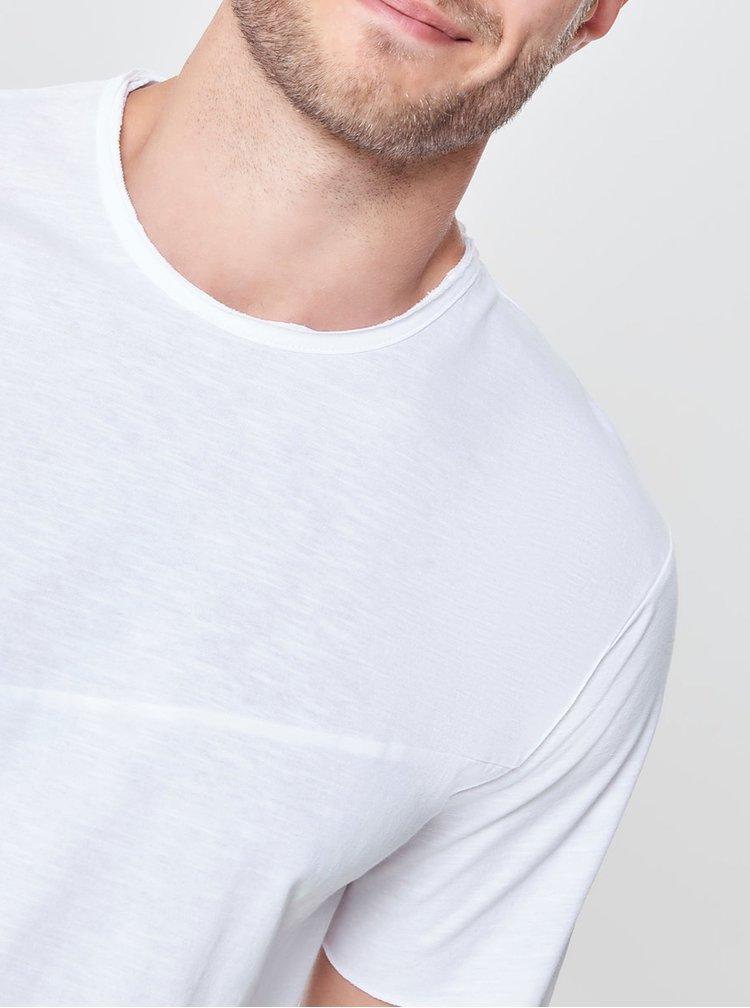 Biele melírované basic tričko ONLY & SONS Stewie
