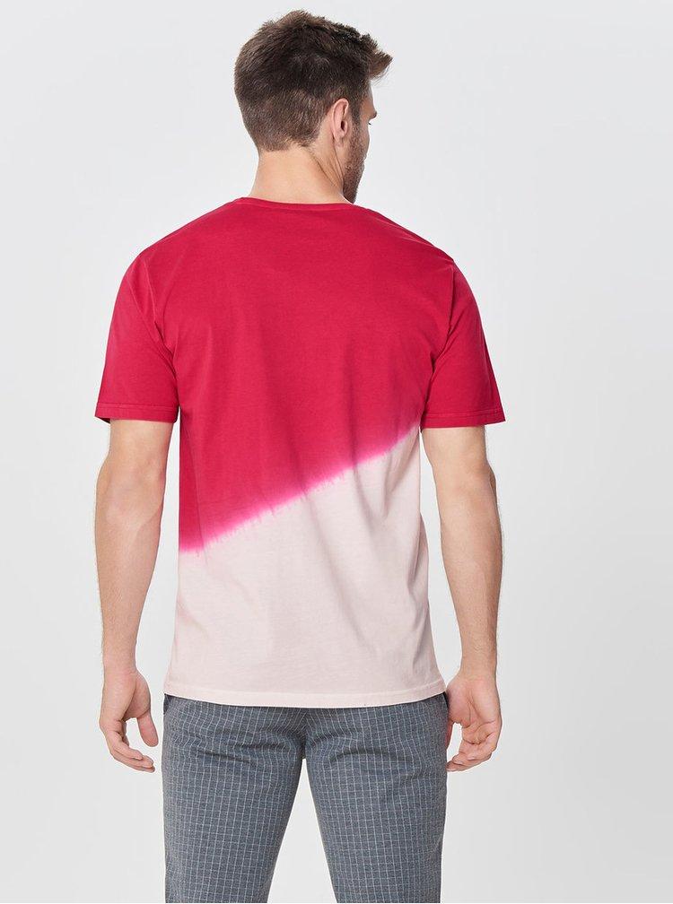 Růžovo-červené tričko ONLY & SONS Dipz