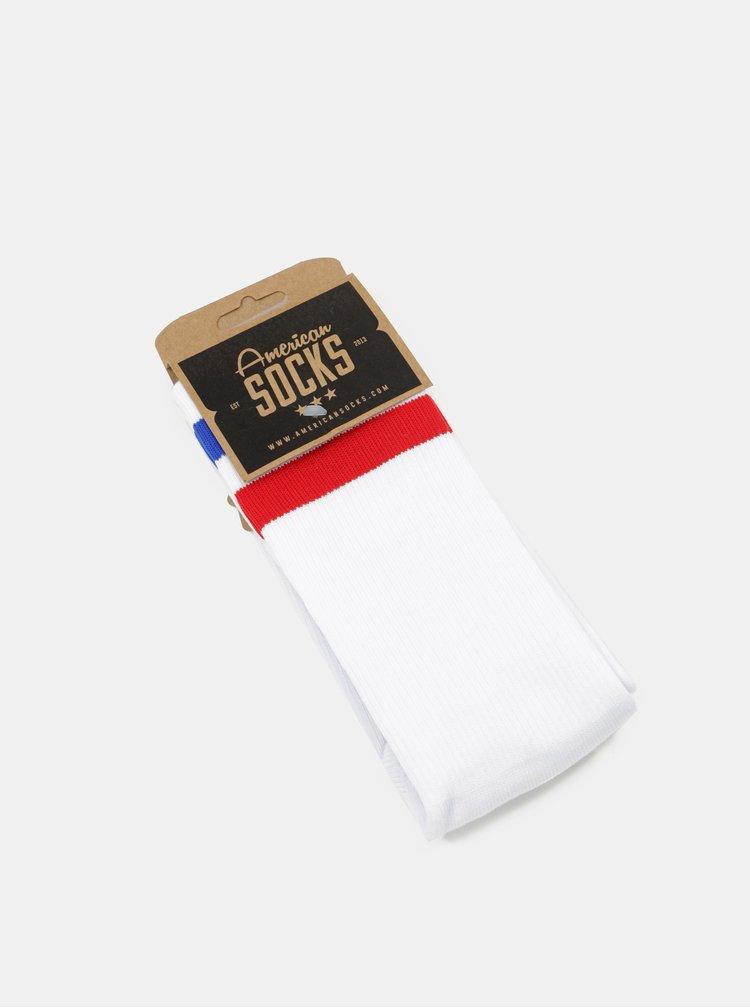 Bílé unisex ponožky s pruhy American Socks Pride I.