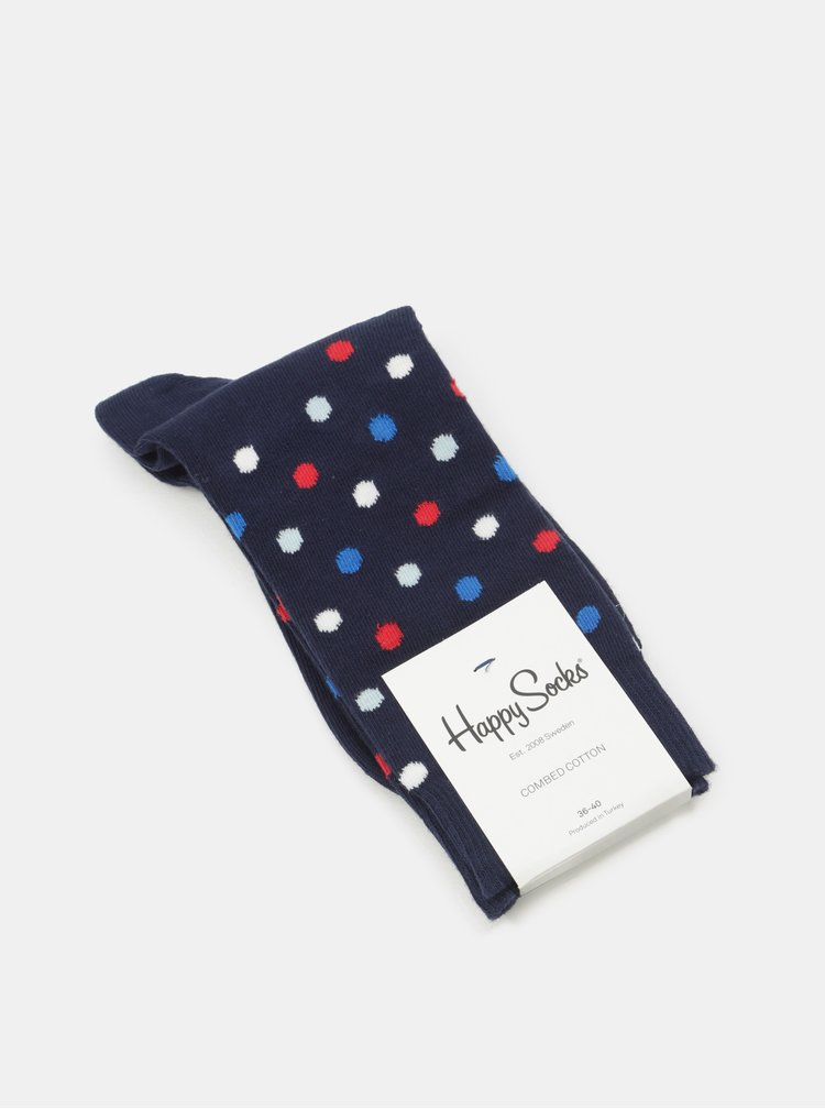 Modré puntíkované ponožky Happy Socks Dot