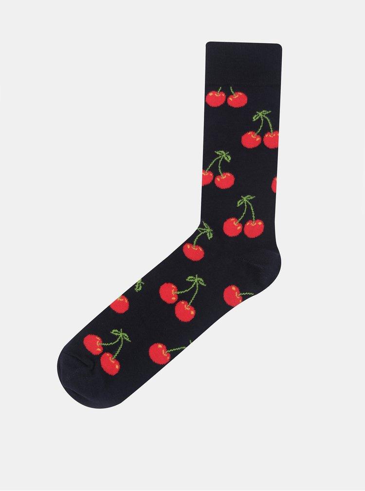 Sosete bleumarin Happy Socks Cherry