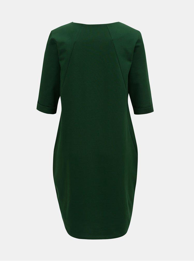 Rochie verde inchis lejera cu buzunare ZOOT