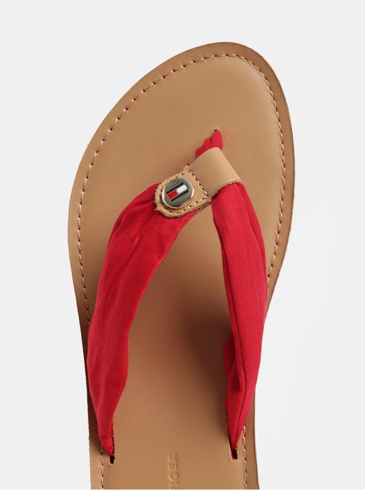 Červené dámske žabky Tommy Hilfiger