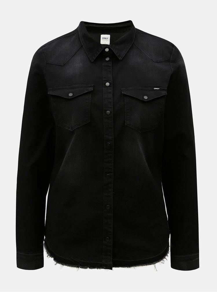 Černá džínová košile s kapsami ONLY