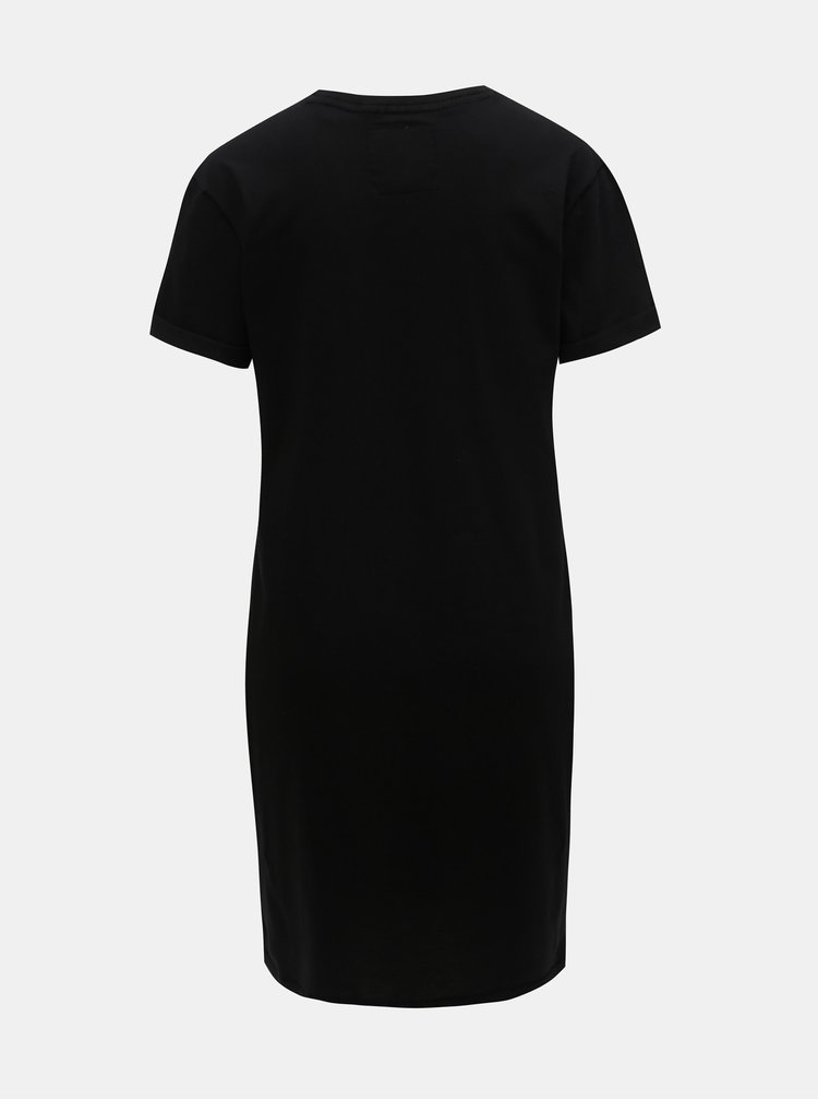 Rochie neagra cu imprimeu Superdry Portland