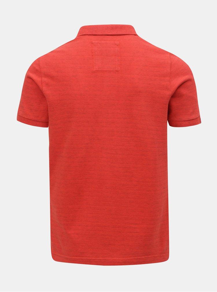 Červené pánské polo tričko s výšivkou Superdry Vintage Destroyed