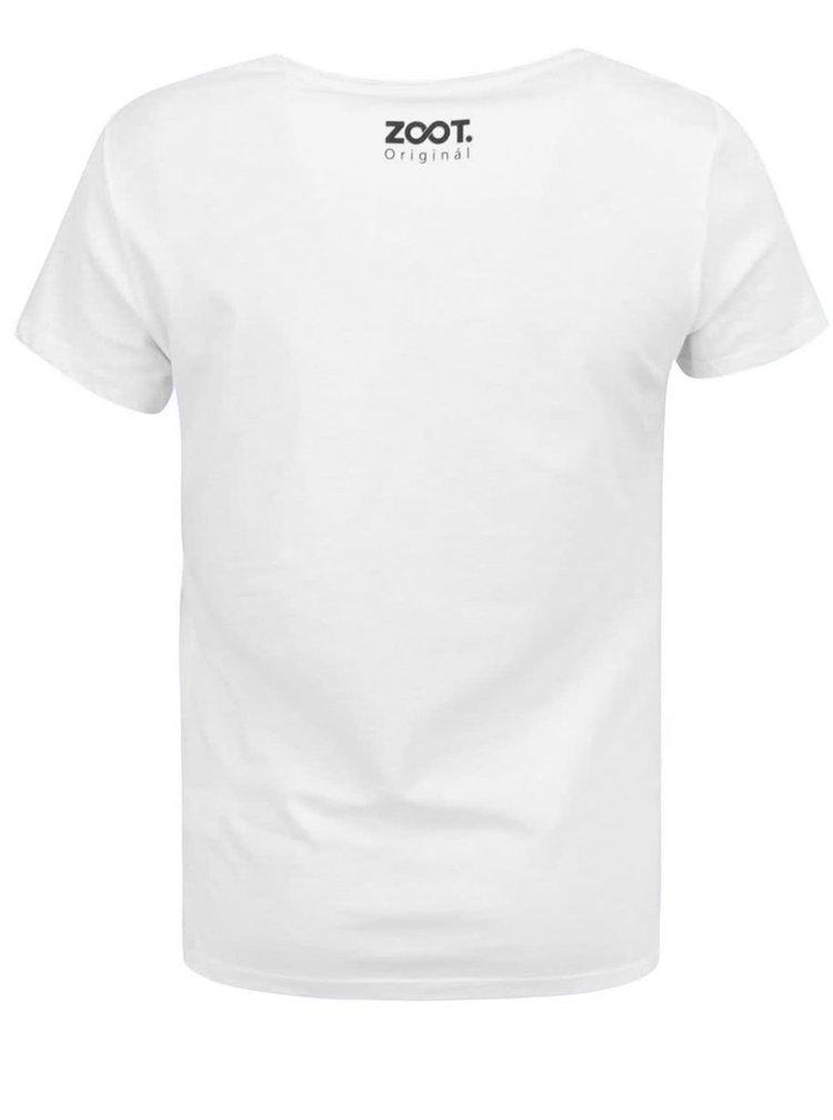 Tricou alb cu print pentru femei -  ZOOT Original Lion