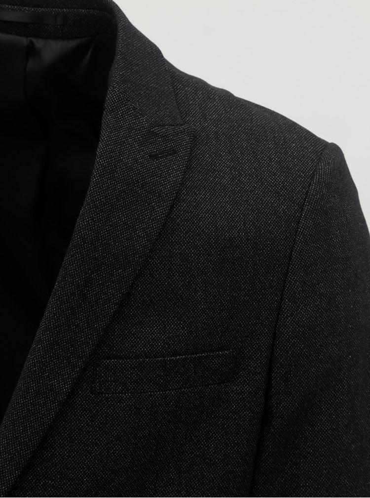 Tmavě šedé žíhané sako Lindbergh