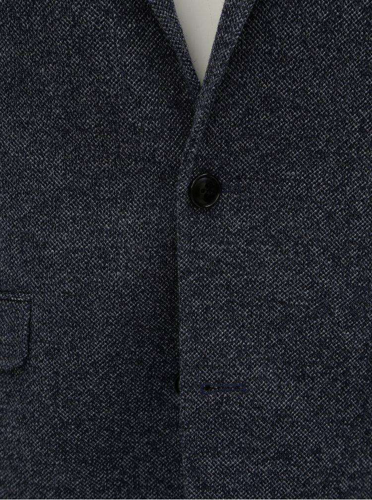 Tmavě modré žíhané sako Lindbergh