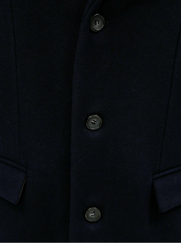 Pardesiu albastru inchis din lana Lindbergh