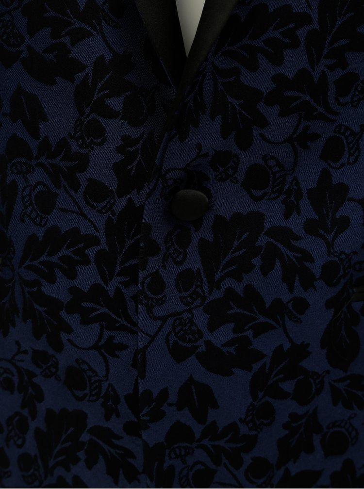 Černo-modré vzorované sako Lindbergh