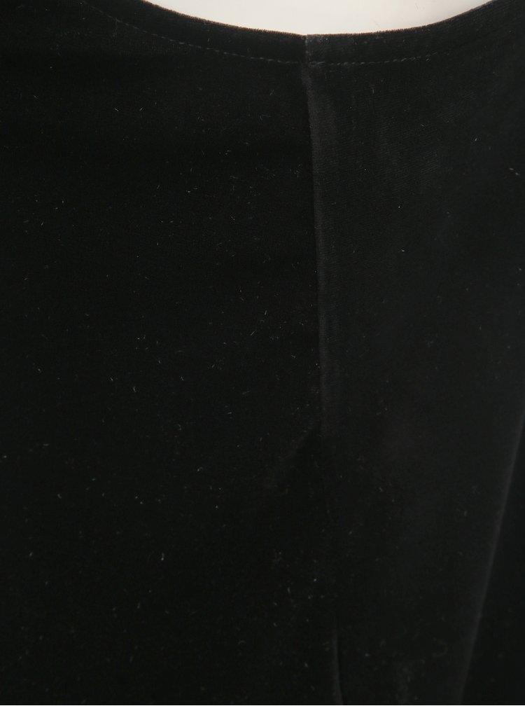 Čierny zamatový top TALLY WEiJL