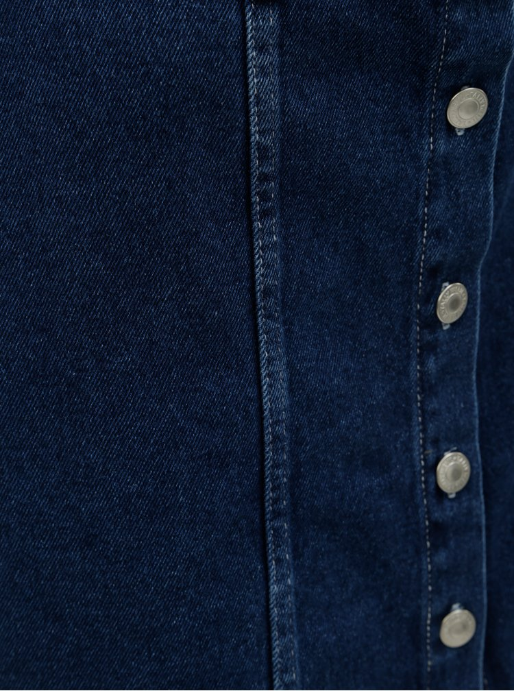 Modrá džínová sukně s knoflíky TALLY WEiJL