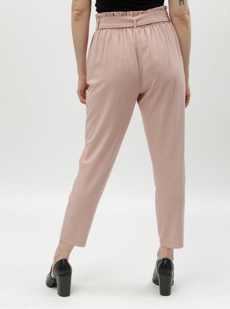 Pantaloni roz pana la glezne cu talie inalta TALLY WEiJL