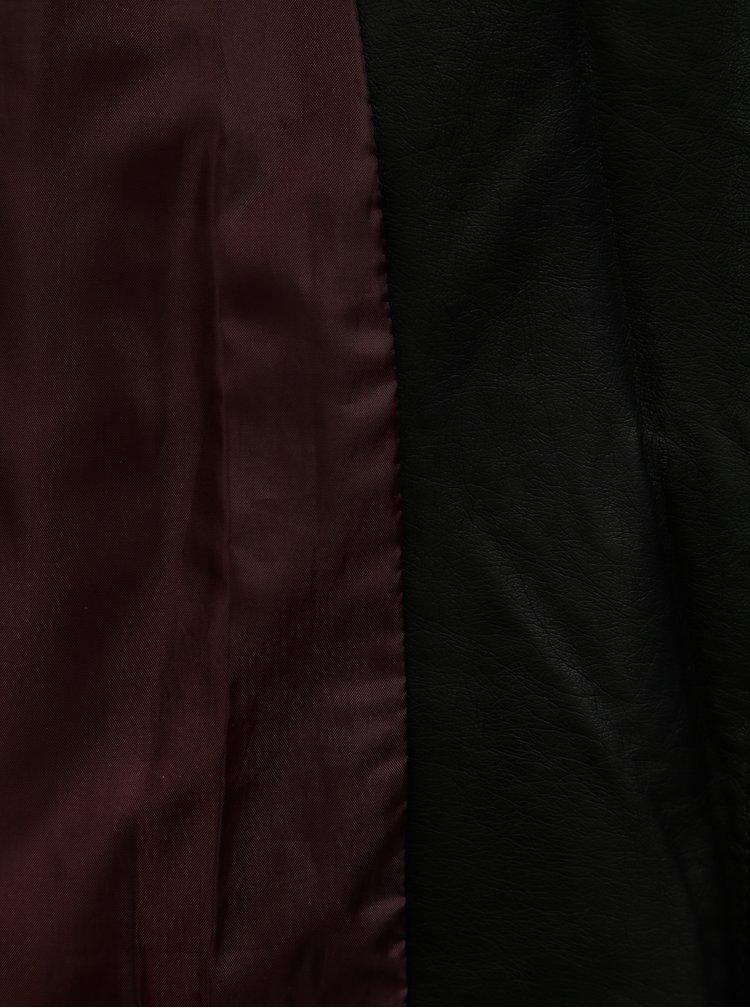 Černý koženkový křivák s páskem TALLY WEiJL