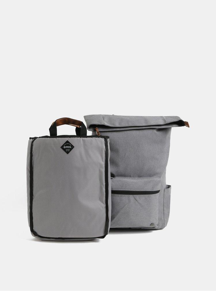 Rucsac gri impermeabil cu geanta detasabila interioara pentru laptop 2 in 1 PKG 22 l