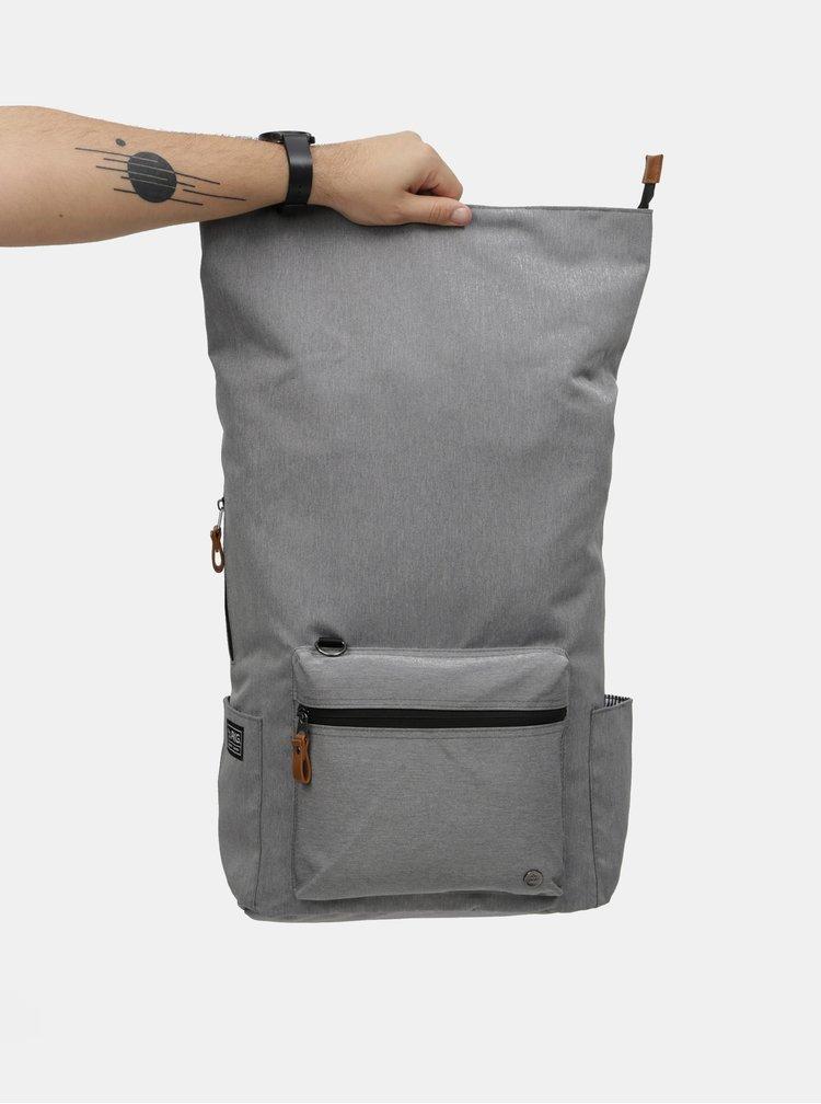 Šedý nepromokavý batoh s vnitřní taškou na notebook 2v1 PKG 22 l