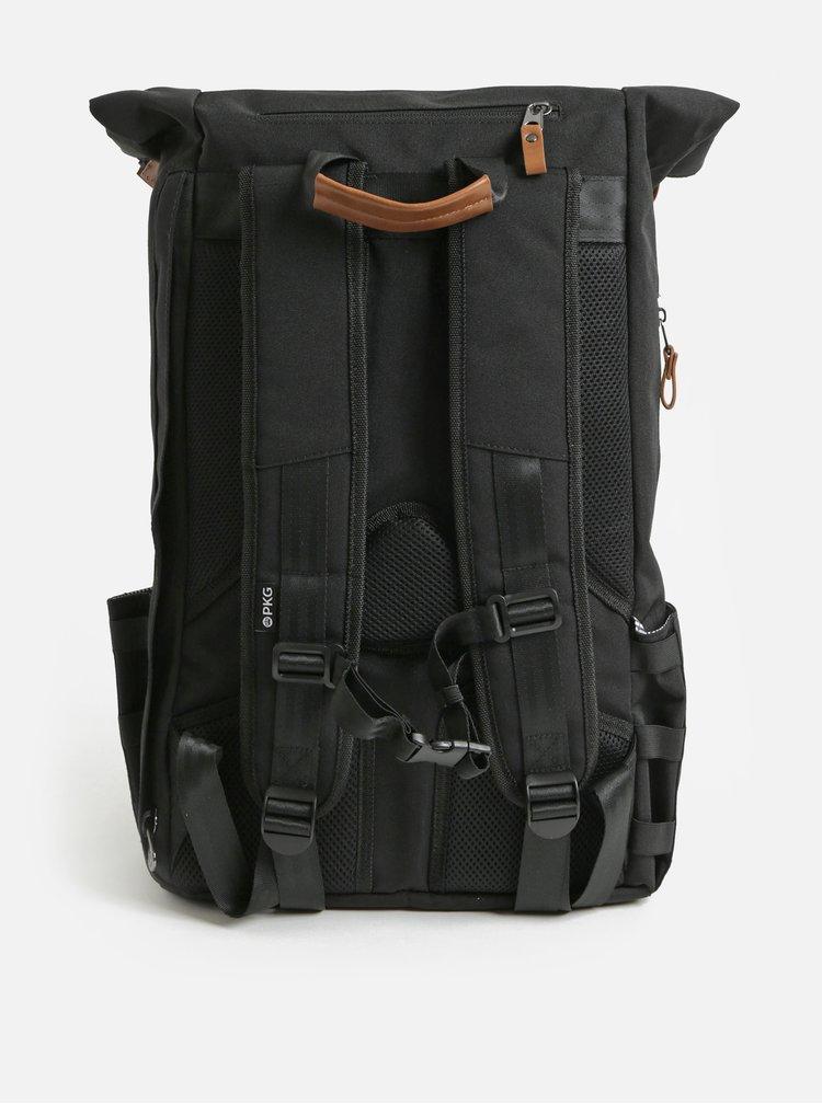 Rucsac negru impermeabil cu geanta detasabila interioara pentru laptop 2 in 1 PKG 22 l