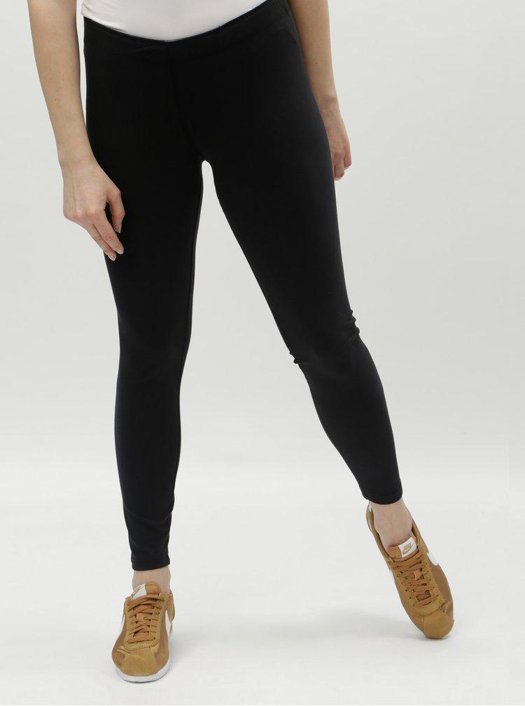 Čierne dámske legíny s potlačou Nike Logo