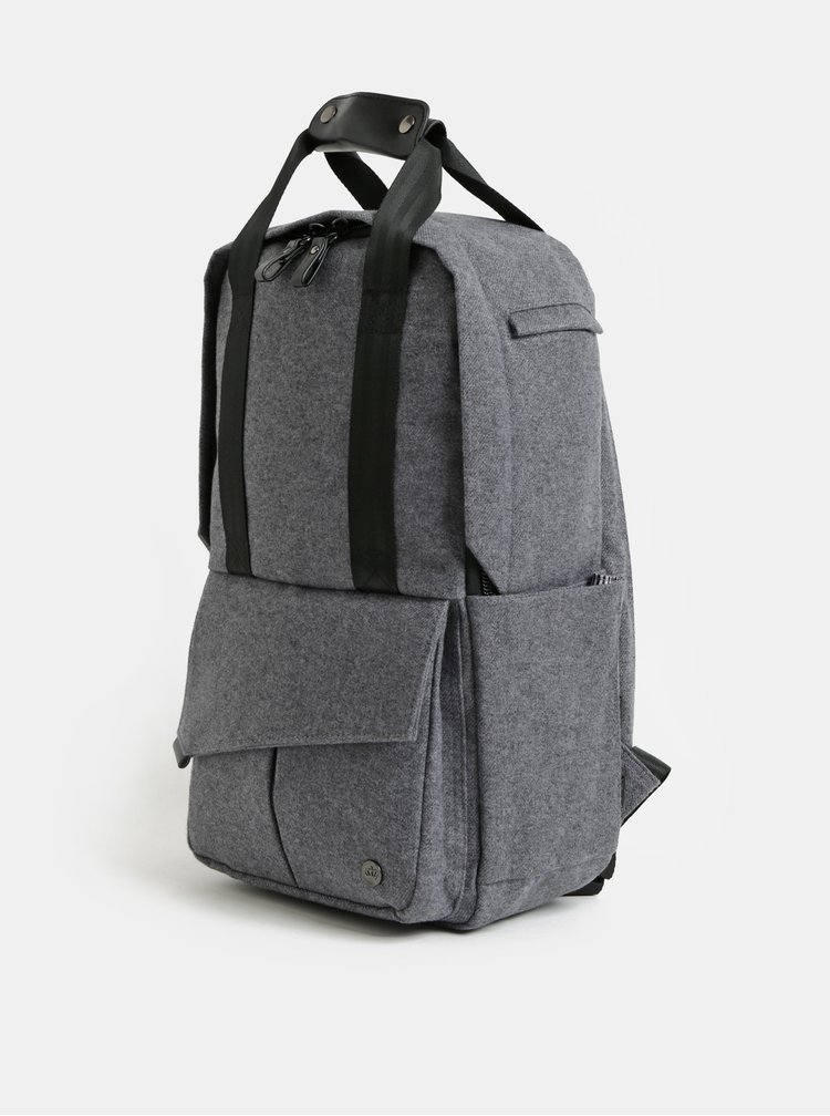 Rucsac gri impermeabil cu geanta detasabila interioara pentru laptop 2 in 1 PKG 12 l