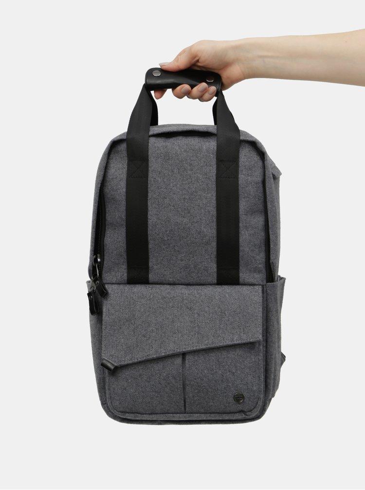 Šedý nepromokavý batoh s vnitřní taškou na notebook 2v1 PKG 12 l
