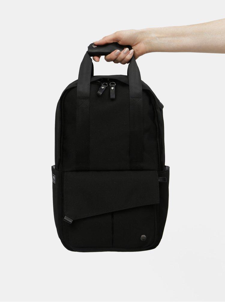 Černý nepromokavý batoh s vnitřní taškou na notebook 2v1 PKG 12 l