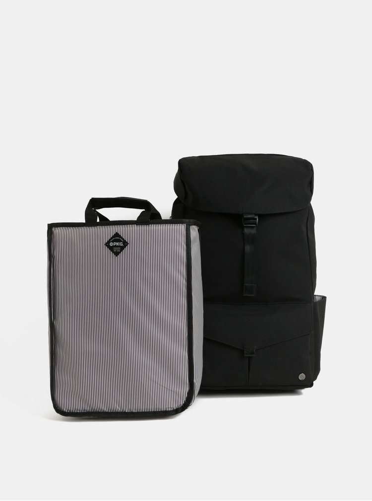 Černý nepromokavý batoh s vnitřní taškou na notebook 2v1 PKG 30 l