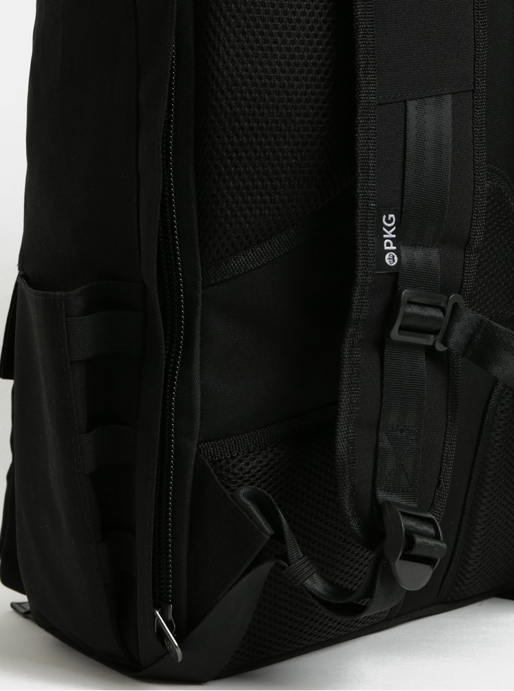 Rucsac mare negru impermeabil cu geanta detasabila interioara pentru laptop 2 in 1 PKG 30 l