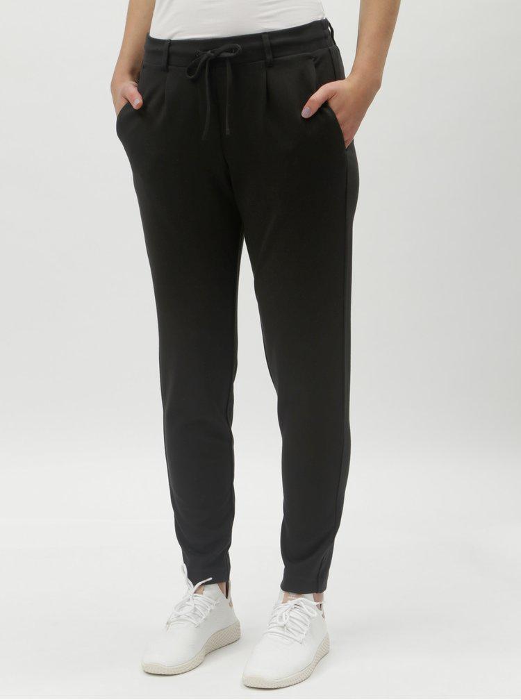 Pantaloni negri de dama cu banda elastica in talie Tom Tailor