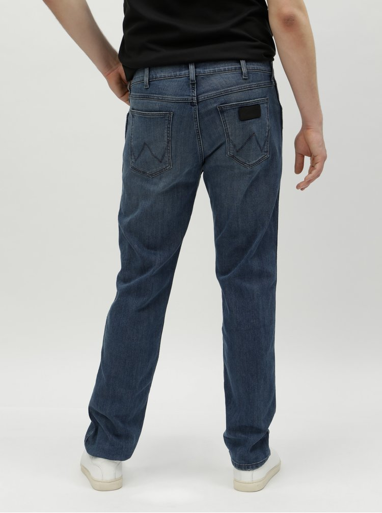 Tmavě modré pánské straight džíny Wrangler Greensboro