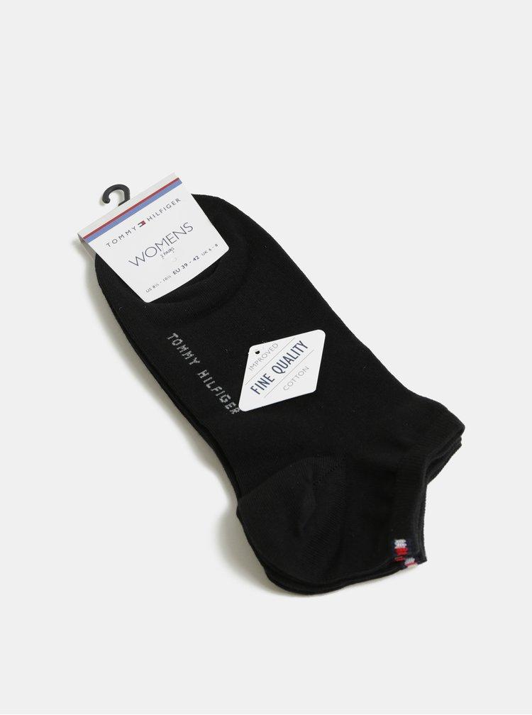 Sada dvou párů dámských nízkých ponožek v černé barvě Tommy Hilfiger